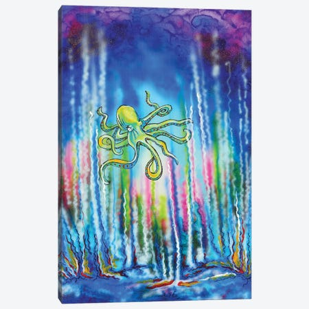 Octopus Canvas Print #CWH27} by Carrie White Canvas Artwork