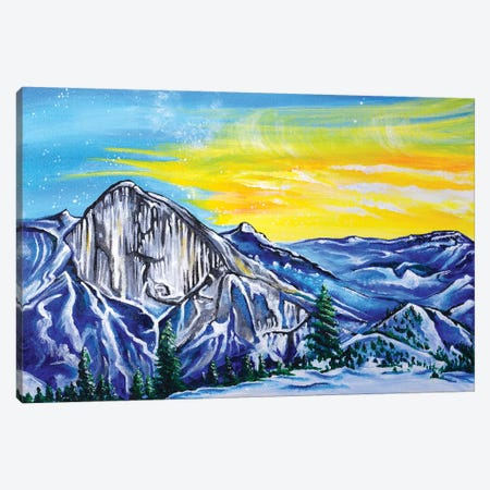 Halfdome Canvas Print #CWH30} by Carrie White Canvas Artwork