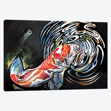 Koi Fish Canvas Print #CWH31} by Carrie White Canvas Art