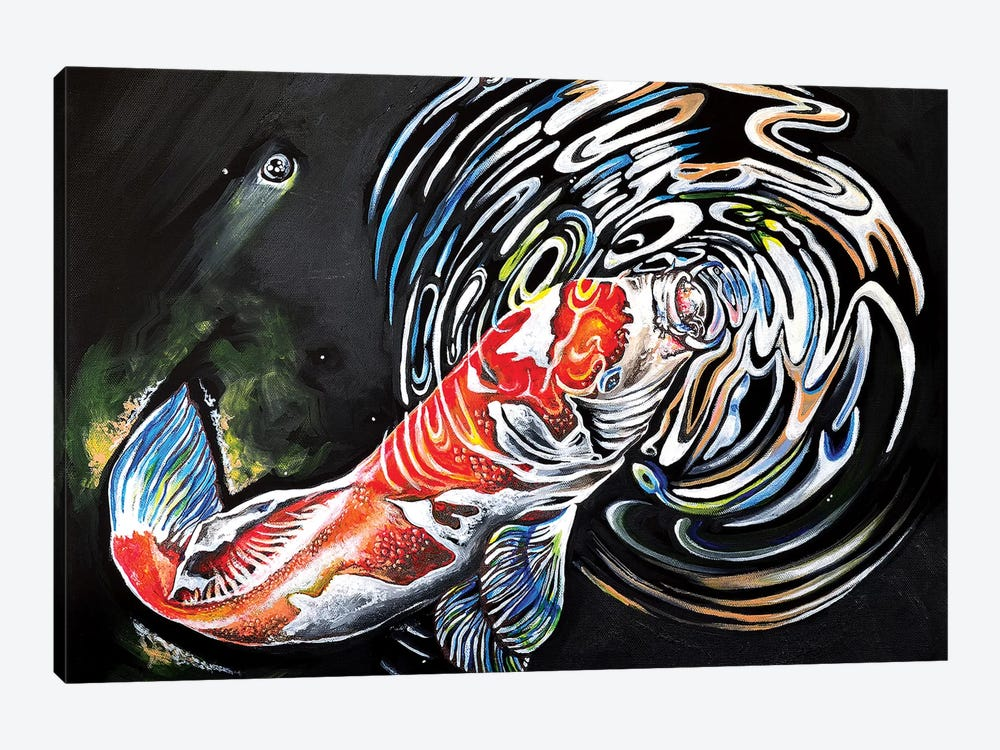 Koi Fish by Carrie White 1-piece Canvas Artwork
