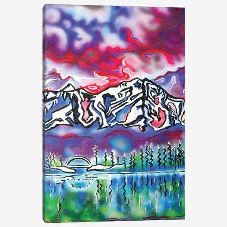 Mt Shasta Bridge Canvas Print #CWH32} by Carrie White Canvas Artwork