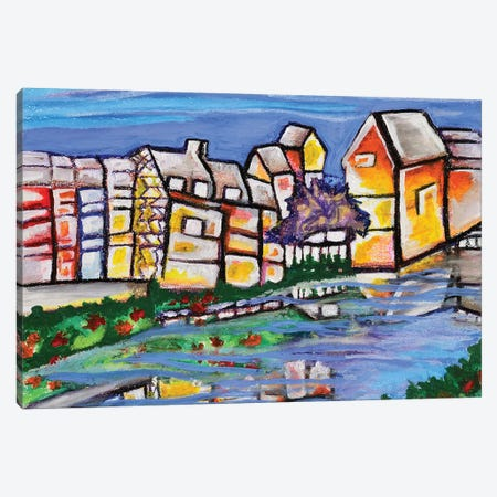 Town Canvas Print #CWH35} by Carrie White Art Print