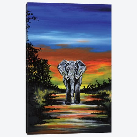 Elephant Canvas Print #CWH5} by Carrie White Art Print