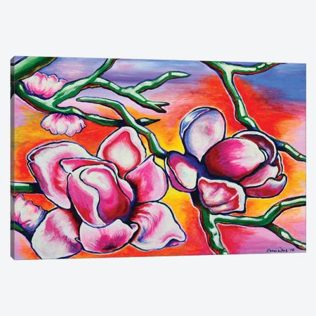 Magnolias Canvas Print #CWH7} by Carrie White Art Print