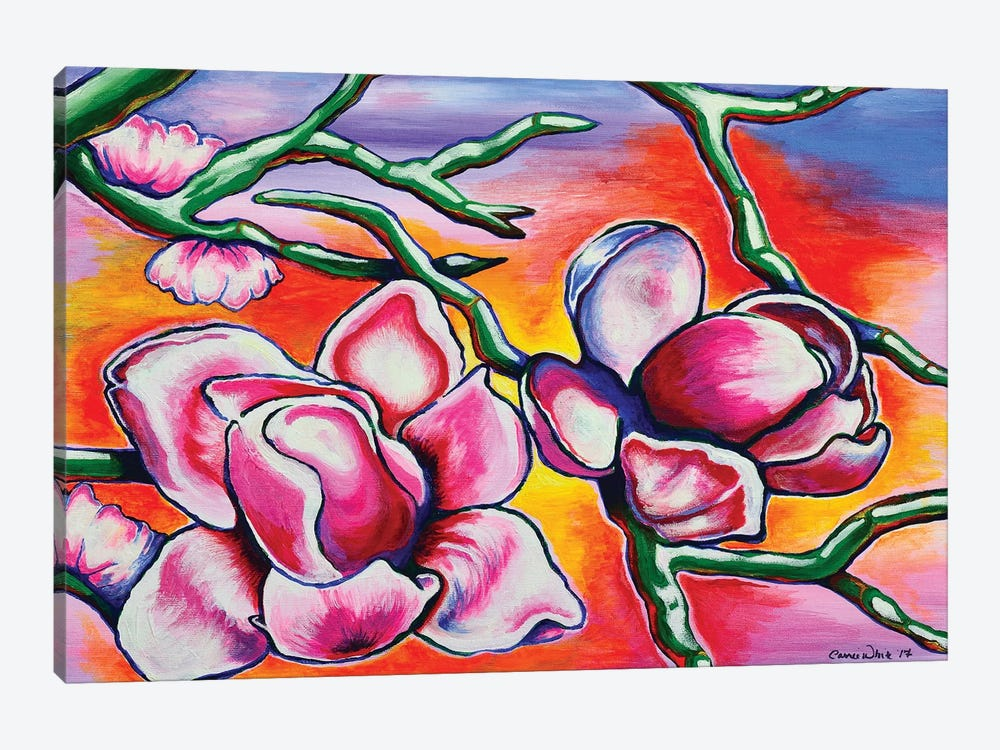 Magnolias by Carrie White 1-piece Canvas Wall Art