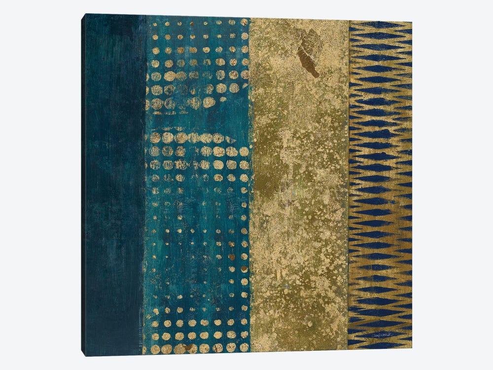 Juxtapose III - Metallic by Cheryl Warrick 1-piece Canvas Artwork