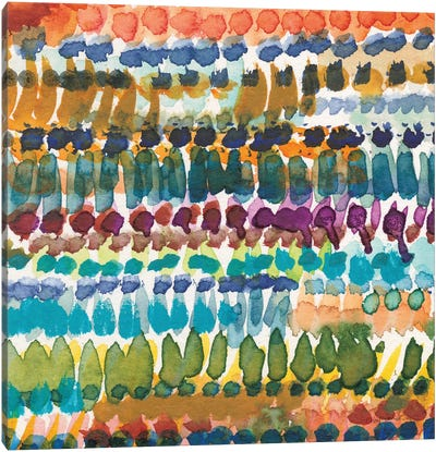 Colorful Patterns V Crop I Canvas Art Print
