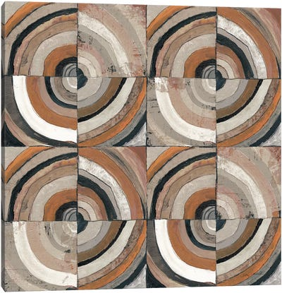 The Center I Abstract Warm Canvas Art Print