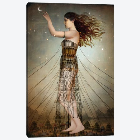 Reach The Stars Canvas Print #CWS100} by Catrin Welz-Stein Canvas Print