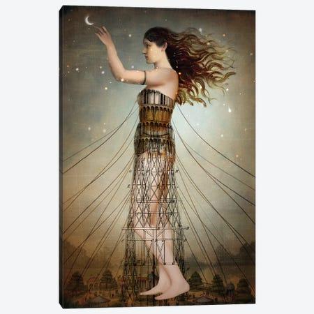 Reach The Stars Canvas Print #CWS100} by Catrin Welz-Stein Canvas Print