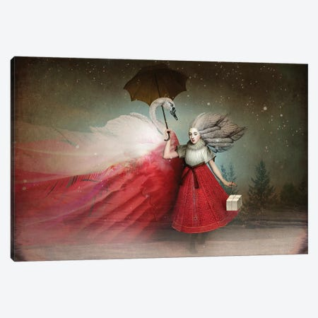 The Gift Canvas Print #CWS105} by Catrin Welz-Stein Canvas Artwork