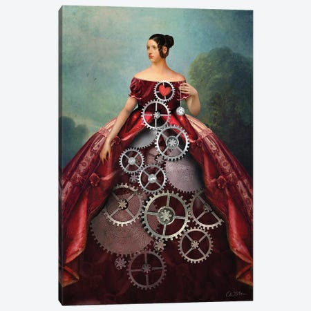 Wheel Of Fortune Canvas Print #CWS109} by Catrin Welz-Stein Canvas Art Print