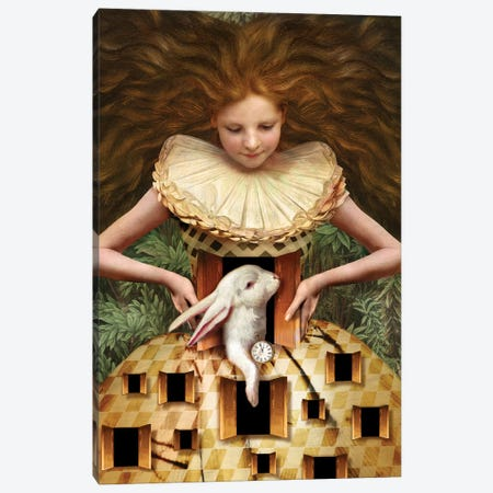 Hello Alice Canvas Print #CWS112} by Catrin Welz-Stein Canvas Artwork