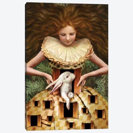 Hello Alice Canvas Print #CWS112} by Catrin Welz-Stein Canvas Artwork