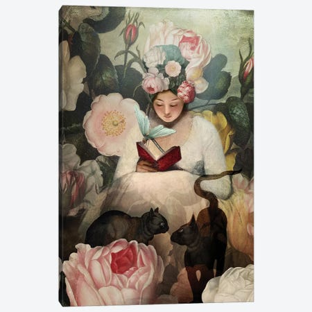 The Reading Canvas Print #CWS118} by Catrin Welz-Stein Canvas Artwork
