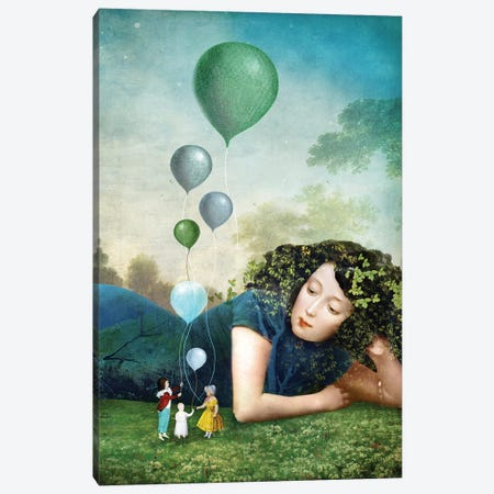 Six of Cups Canvas Print #CWS122} by Catrin Welz-Stein Canvas Print
