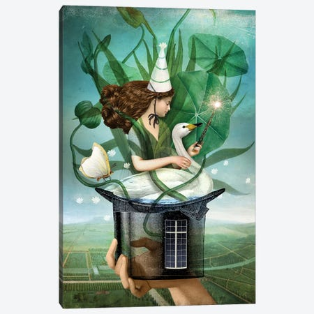 The Magician Canvas Print #CWS126} by Catrin Welz-Stein Canvas Artwork