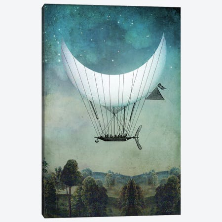 The Moonship Canvas Print #CWS127} by Catrin Welz-Stein Canvas Artwork