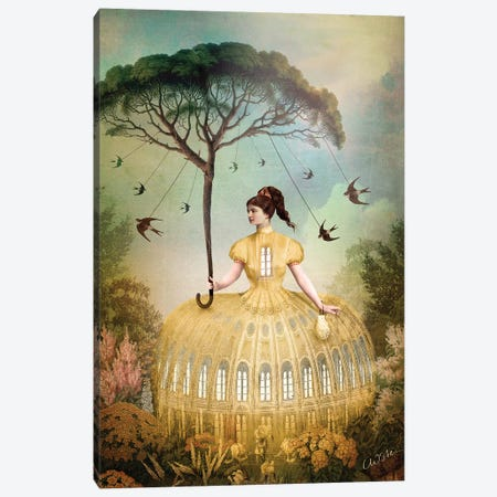 The Bird Keeper Canvas Print #CWS128} by Catrin Welz-Stein Canvas Print