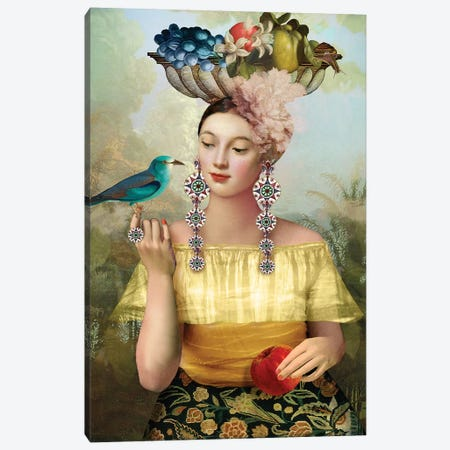 Nine Of Pentacles Canvas Print #CWS132} by Catrin Welz-Stein Canvas Art