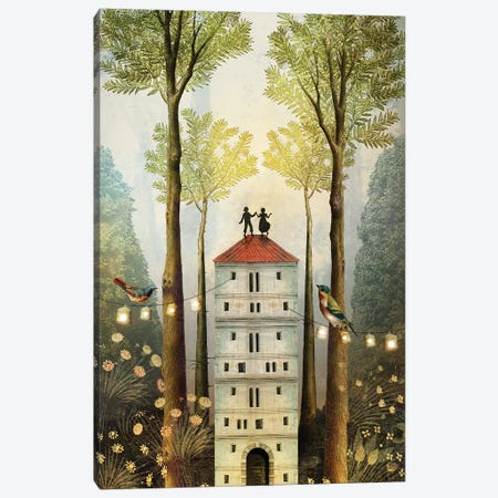 Four Of Wands Canvas Print #CWS133} by Catrin Welz-Stein Canvas Art