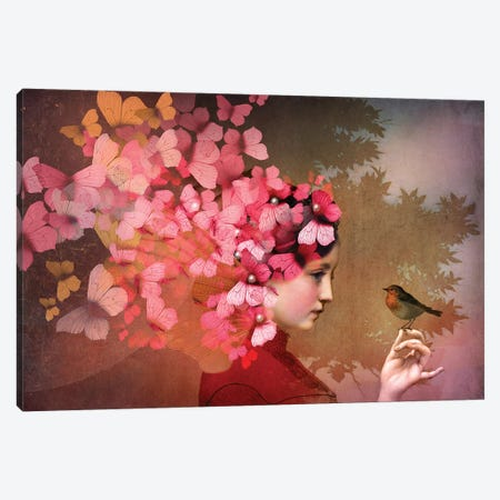 Friendship Canvas Print #CWS13} by Catrin Welz-Stein Canvas Art Print
