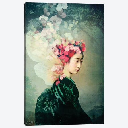 Portrait 12 Canvas Print #CWS140} by Catrin Welz-Stein Canvas Art Print