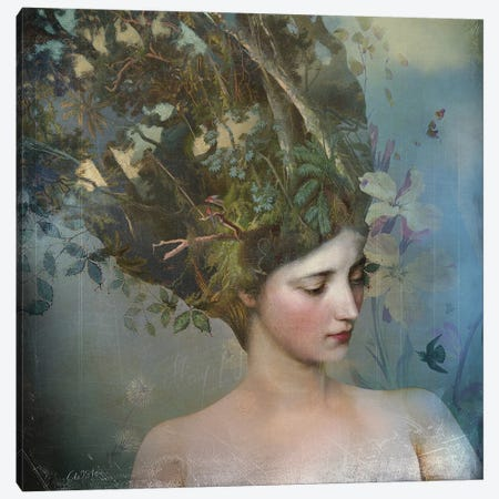 Portrait 17 3-Piece Canvas #CWS142} by Catrin Welz-Stein Art Print
