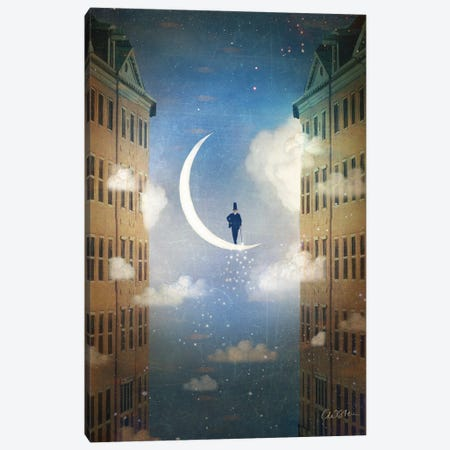 Good Night Canvas Print #CWS149} by Catrin Welz-Stein Art Print