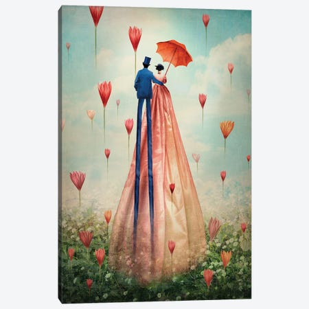 Good Morning Canvas Print #CWS14} by Catrin Welz-Stein Canvas Wall Art