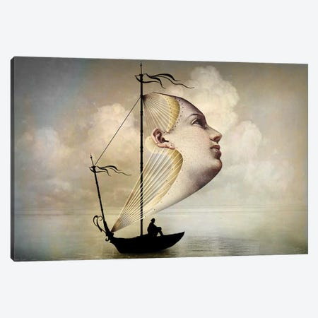 Homeward Bound Canvas Print #CWS15} by Catrin Welz-Stein Canvas Artwork