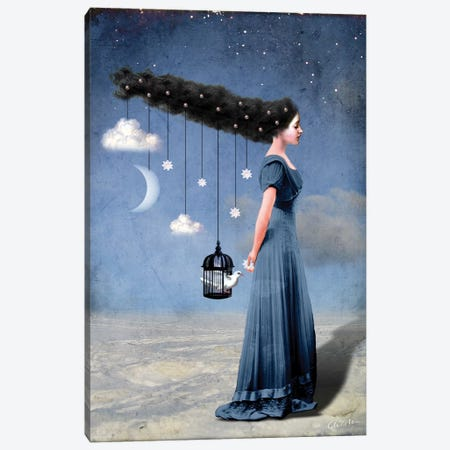 Liberty Canvas Print #CWS17} by Catrin Welz-Stein Canvas Wall Art