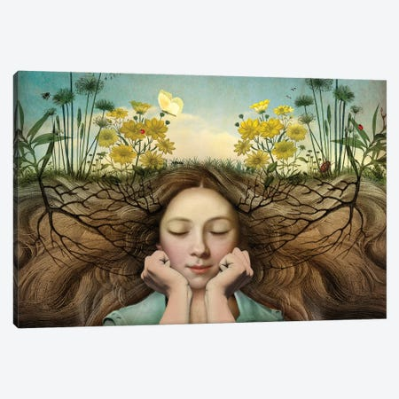 Listen Canvas Print #CWS18} by Catrin Welz-Stein Canvas Print
