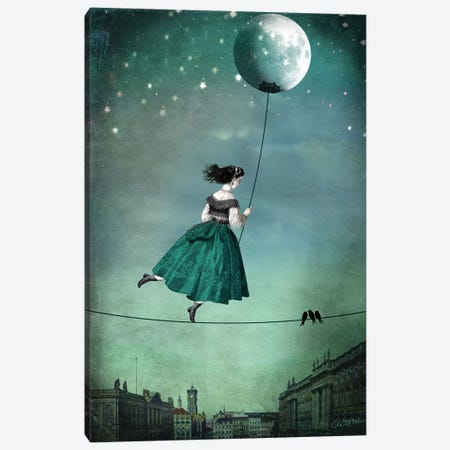 Moonwalk Canvas Print #CWS20} by Catrin Welz-Stein Canvas Wall Art