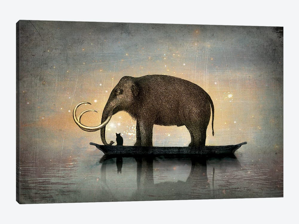 Silent Night by Catrin Welz-Stein 1-piece Canvas Art