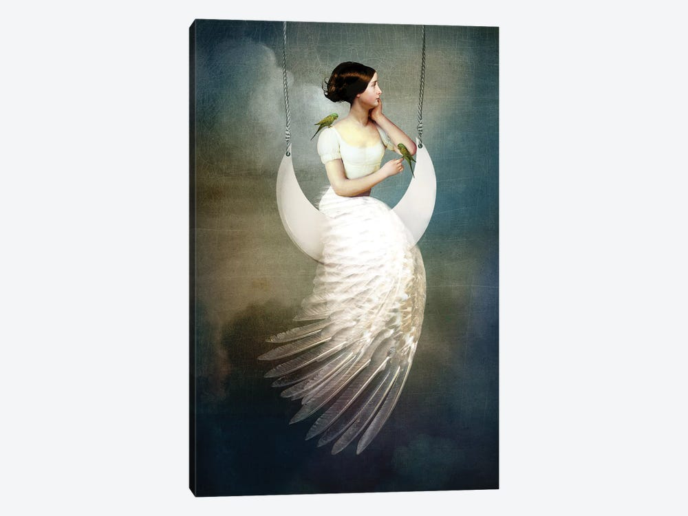 To The Moon And Back by Catrin Welz-Stein 1-piece Canvas Art