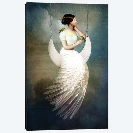 To The Moon And Back 3-Piece Canvas #CWS28} by Catrin Welz-Stein Canvas Artwork