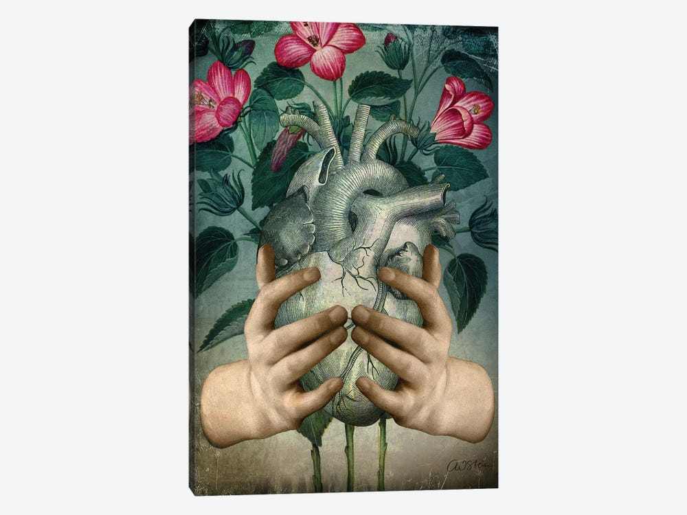 A Green Heart by Catrin Welz-Stein 1-piece Canvas Art Print