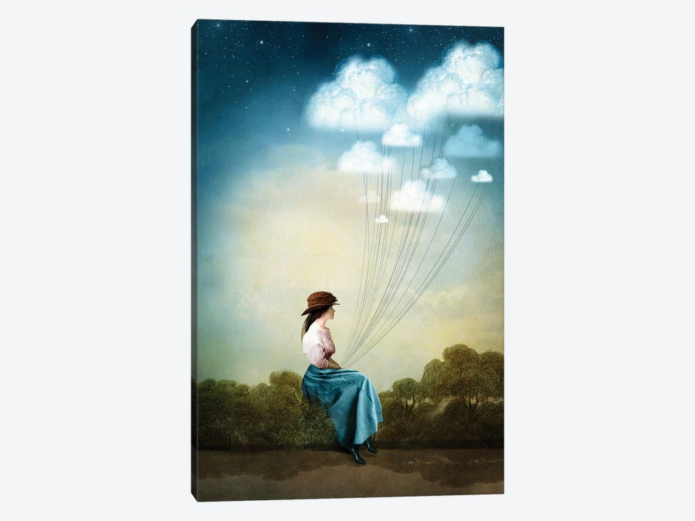 Blue Thoughts by Catrin Welz-Stein 1-piece Canvas Art