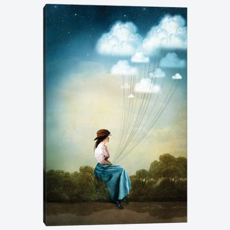 Blue Thoughts Canvas Print #CWS33} by Catrin Welz-Stein Canvas Art Print