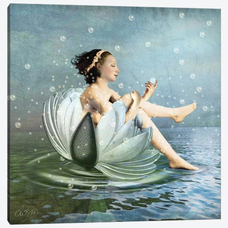 Bubbles 3-Piece Canvas #CWS34} by Catrin Welz-Stein Canvas Artwork