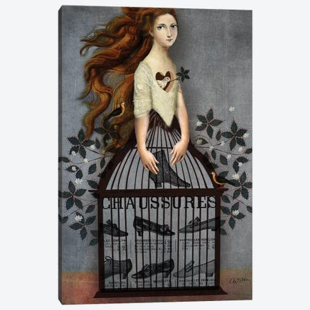 Cinderella Canvas Print #CWS35} by Catrin Welz-Stein Canvas Wall Art