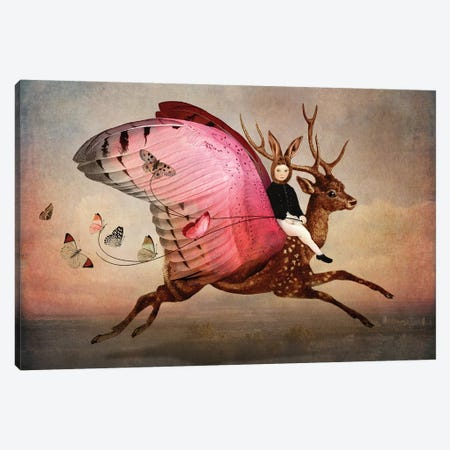 Enjoy The Ride Canvas Print #CWS37} by Catrin Welz-Stein Canvas Artwork