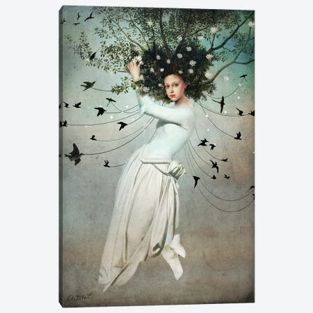 Fly With Me Canvas Print #CWS39} by Catrin Welz-Stein Canvas Art Print