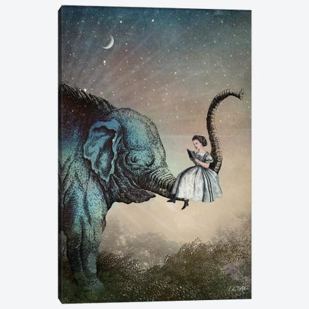 Good Night Story 3-Piece Canvas #CWS41} by Catrin Welz-Stein Canvas Wall Art