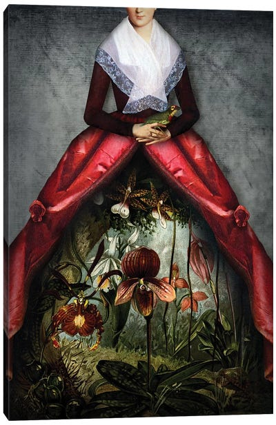 Her Garden Canvas Art Print