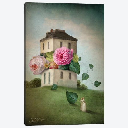 House Of Flowers Canvas Print #CWS44} by Catrin Welz-Stein Art Print