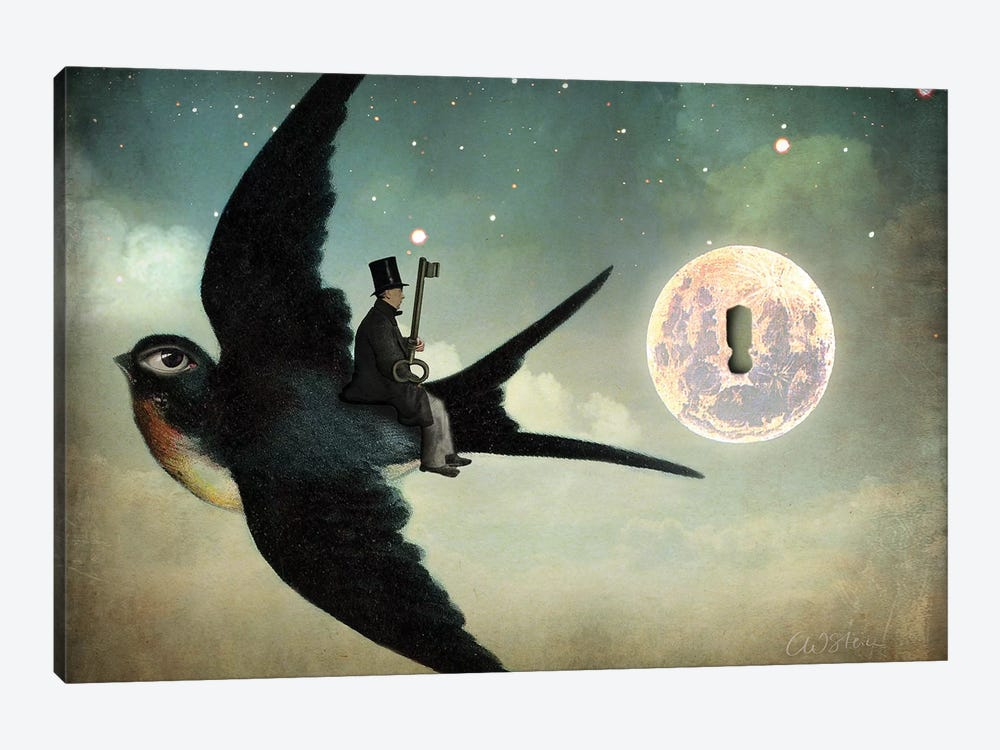 Keep Your Secrets by Catrin Welz-Stein 1-piece Canvas Art