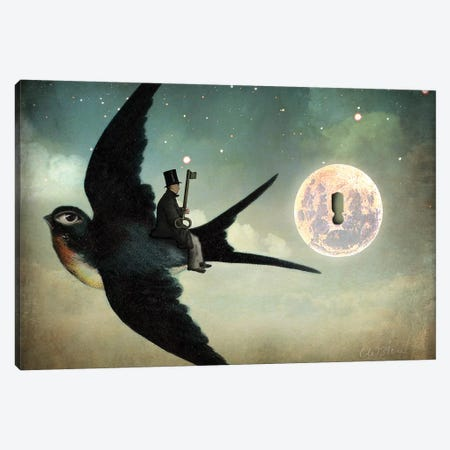 Keep Your Secrets Canvas Print #CWS48} by Catrin Welz-Stein Canvas Art