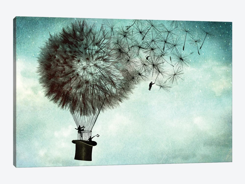 Businessmens' Goodbye by Catrin Welz-Stein 1-piece Canvas Wall Art